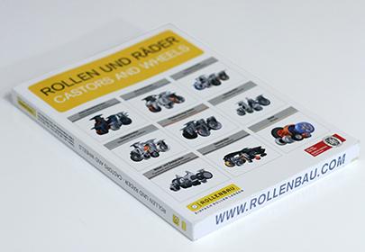 Rollenbau Katalog Titelblatt, Graphik